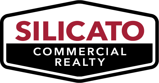 Black and red silicato commercial realty logo