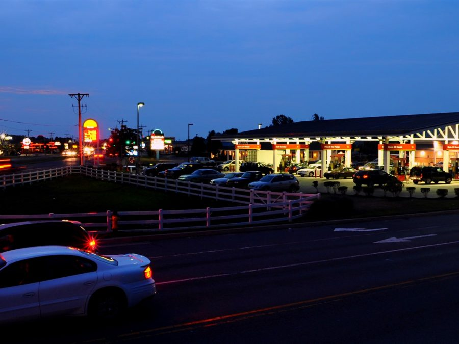 Wawa - Milford DE at night