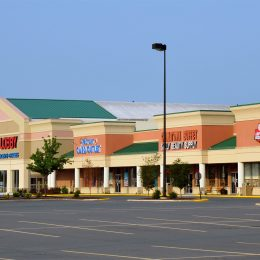HObby Lobby shopping center with stores