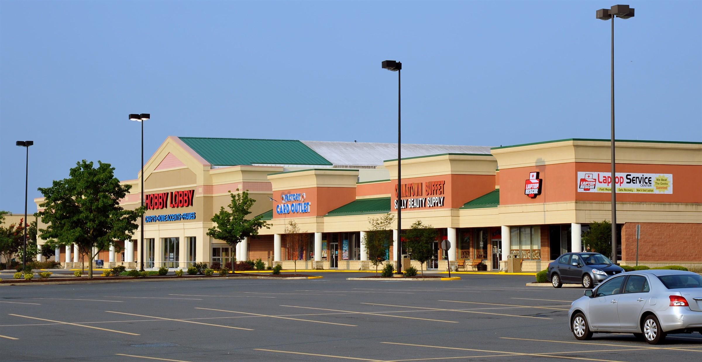 Strip Mall Store Hobby Lobby