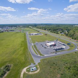 Aerial view of Royal Farms Milford DE