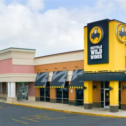 Buffalo Wild Wings corner store in strip mall
